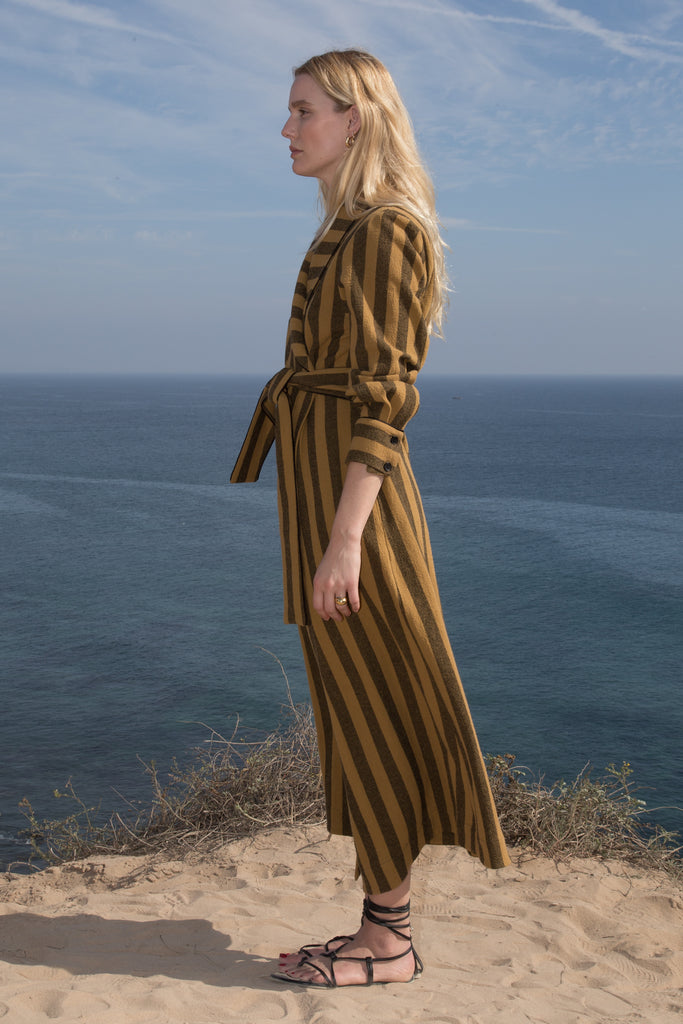 GRACE ROBE - GOLD STRIPE