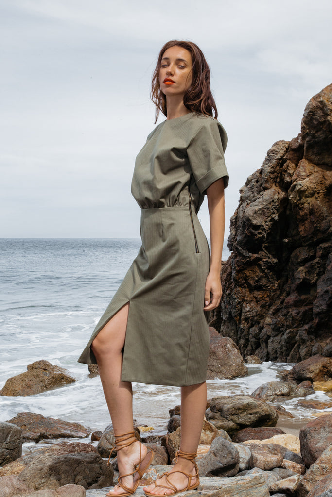 SOFIA DRESS - MILITARE - SOLD OUT