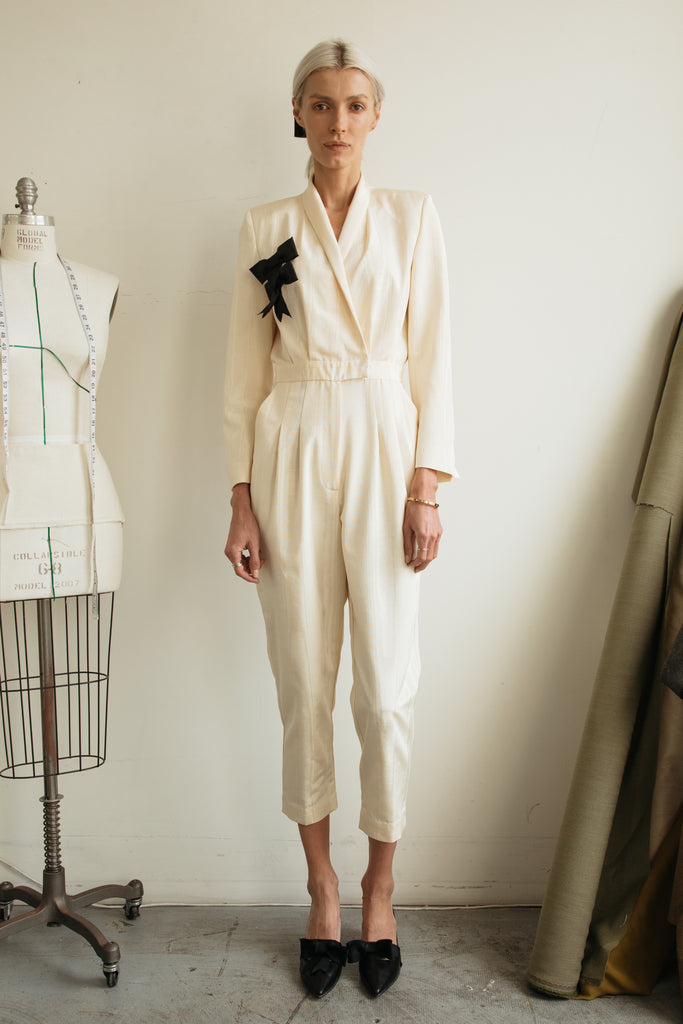 BLAZER JUMPSUIT - CREAM