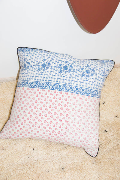 RED & BLUE PATTERNED PILLOW