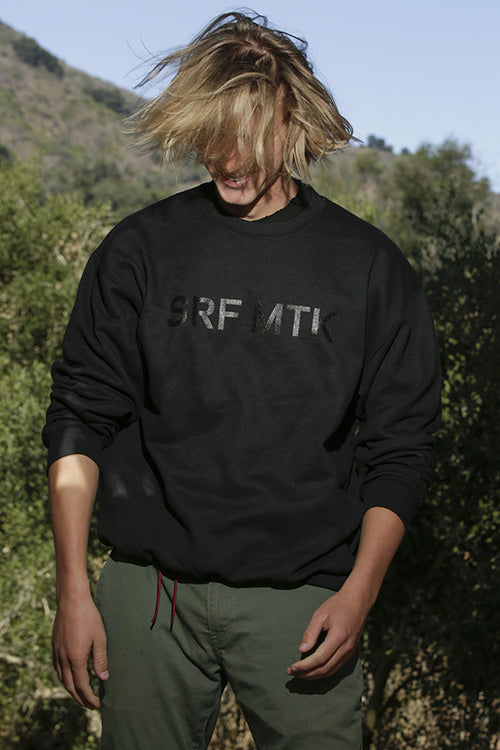 SRF MTK OVERSIZED CREWNECK - BLACK ON BLACK