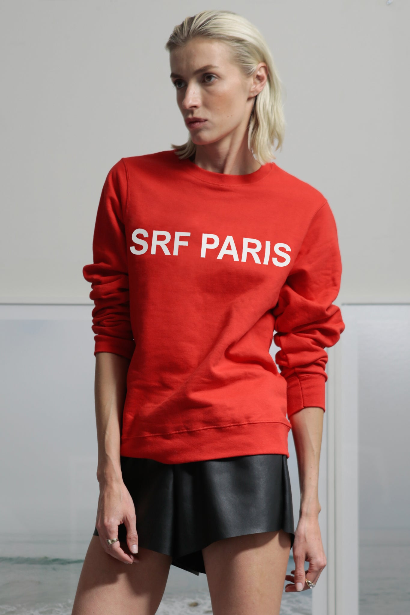 SRF PARIS CREWNECK - RED