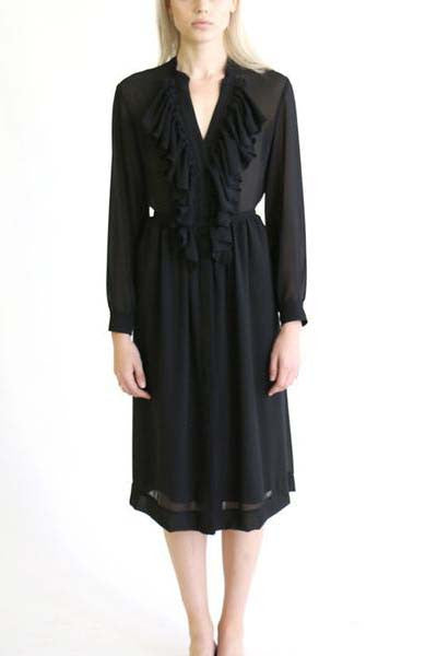 CHAMISE DRESS - BLACK