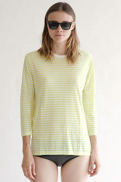 DRAKE TOP - LIME STRIPE