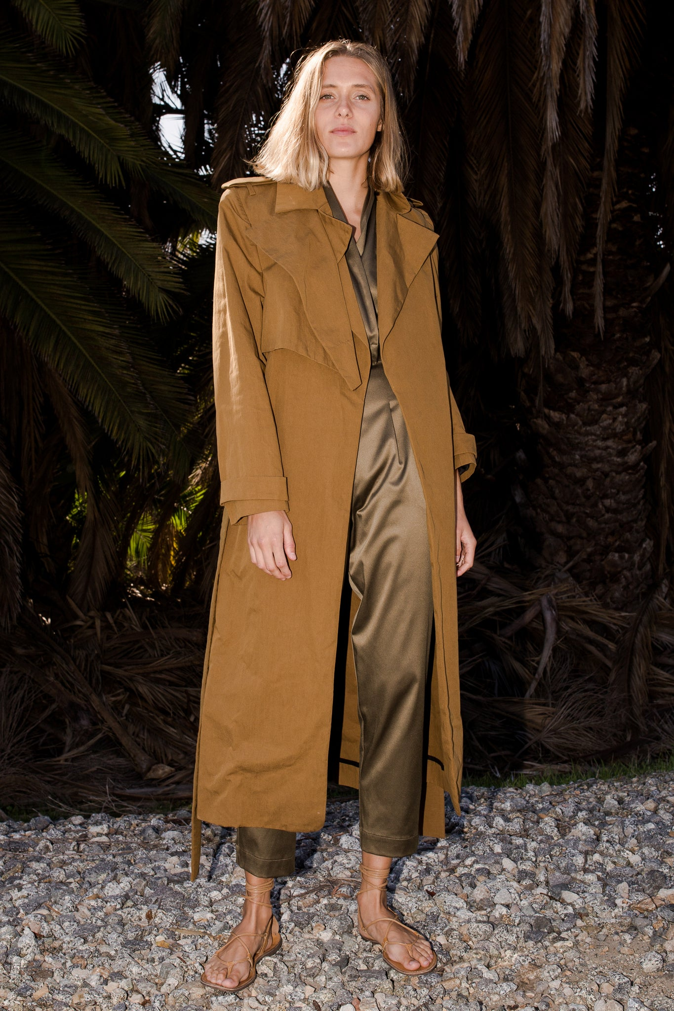 ELPHAIS TRENCH COAT - GREEN