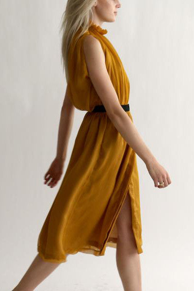 YARROW SKIRT - SAFFRON