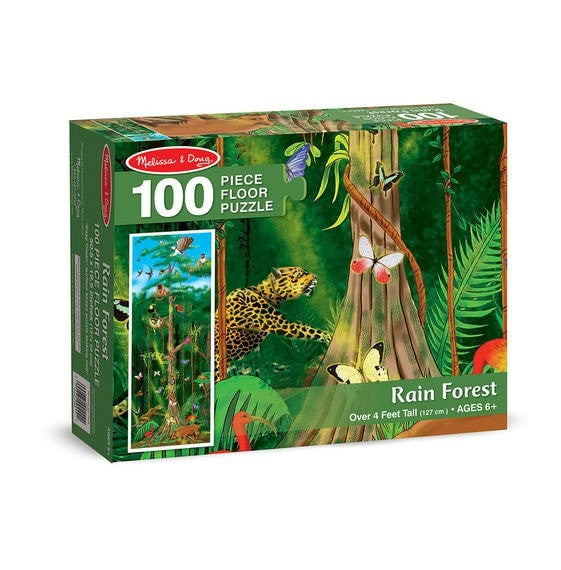 Puzzle, Floor - 100 Pieces - Rainforest