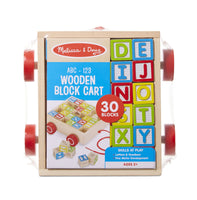 ABC-123 Wooden Block Cart