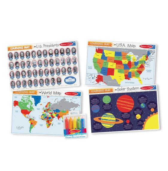 Learning Mat - U.S.A. Map