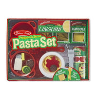 Prepare and Serve Pasta Set - Wooden Food Playset