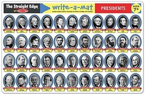Learning Mat - Presidents