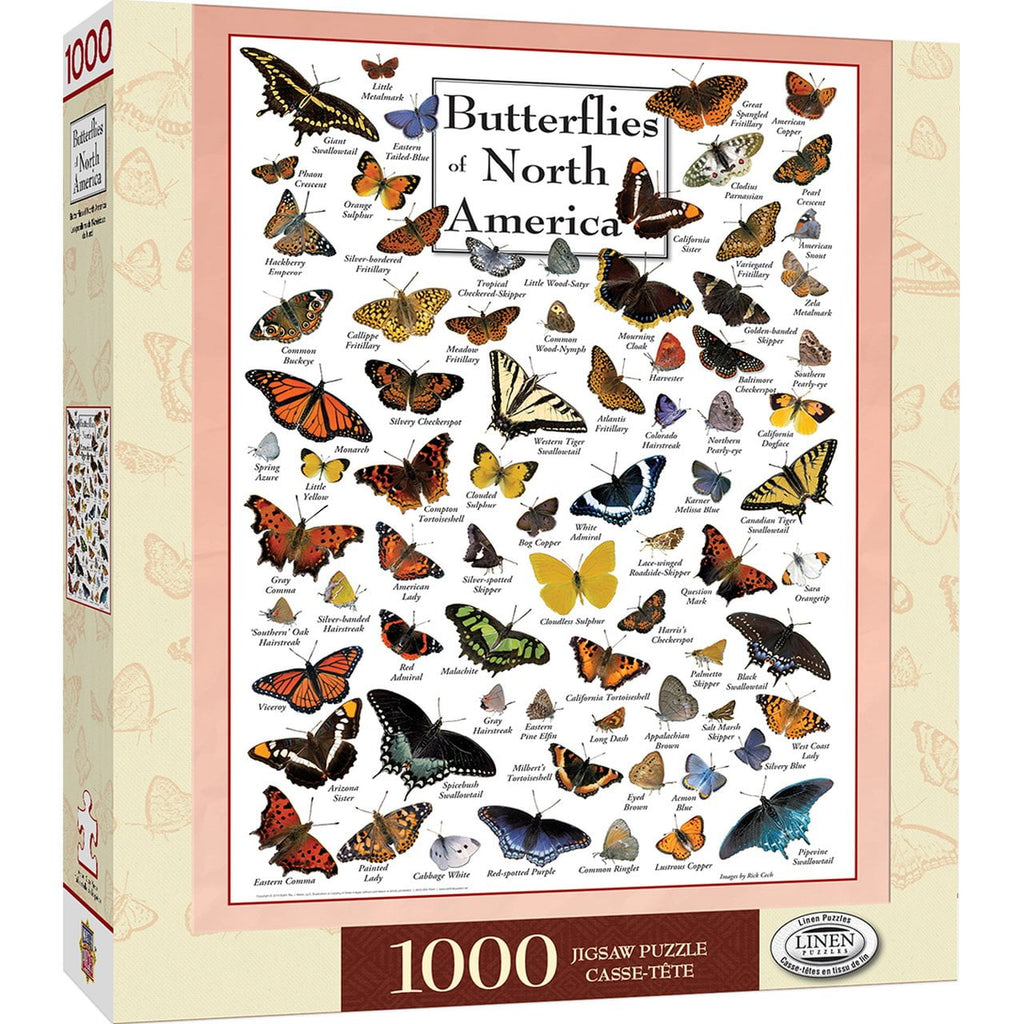 Puzzle - 1000 pieces - Butterflies of North America