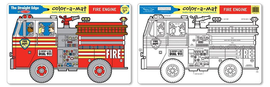 Learning Mat - Fire Engine
