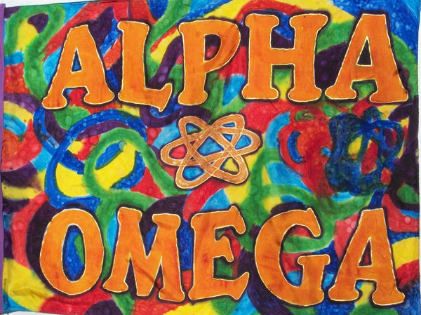 Alpha & Omega Prophetic Flag