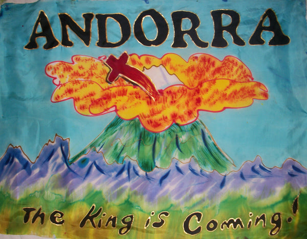 ANDORRA Prophetic Flag