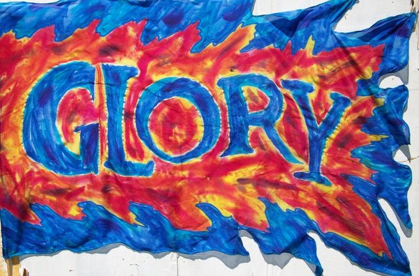 Glory Word on  Blue Glory Fire