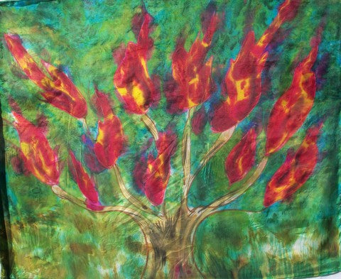 Burning Bush Prophetic Worship Flag