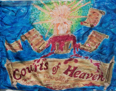 Courts of Heaven Prophetic Worship Flag