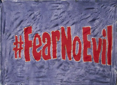 #FearNoEvil Prophetic Worship Flag