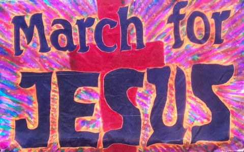 March for Jesus Prophetic Worship Flag