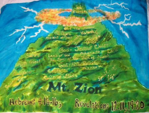 Mt Zion Prophetic Worship Flag