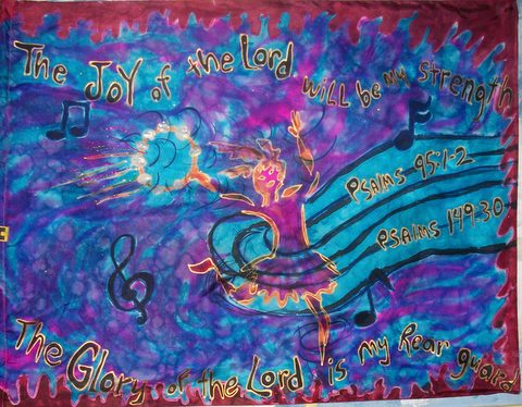 Psalms 95 Joy Prophetic Worship Flag