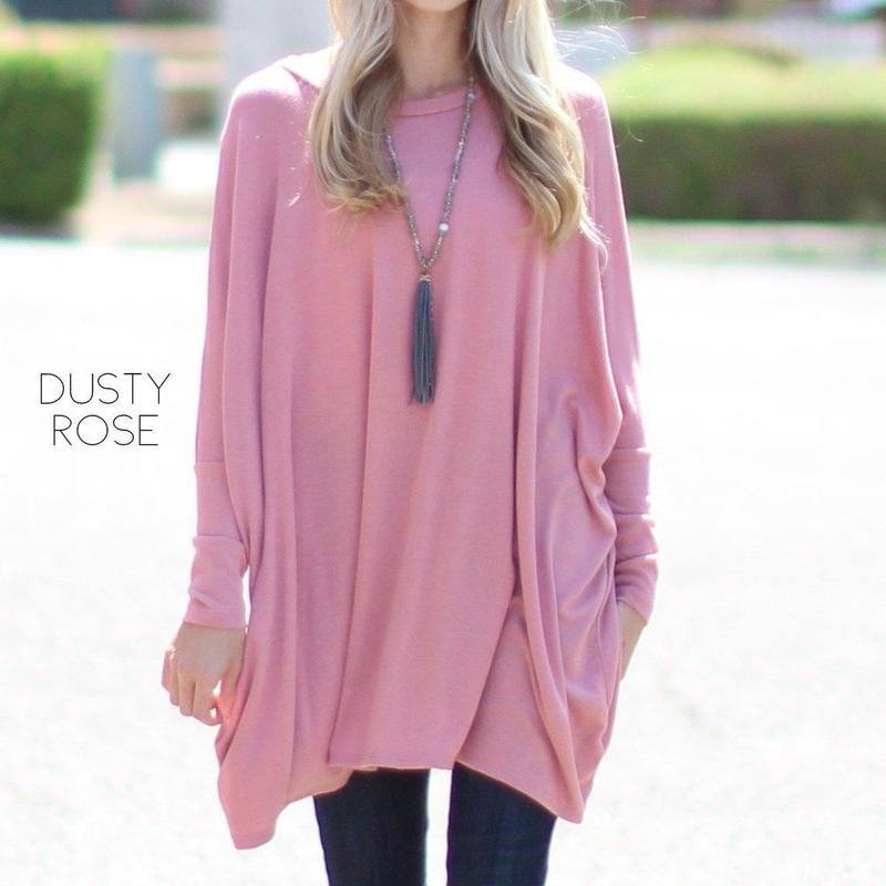 Sweater Poncho Tunic | S-XL