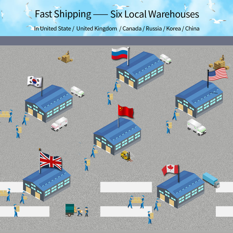 Fast Shipping from Six Local Warehouses