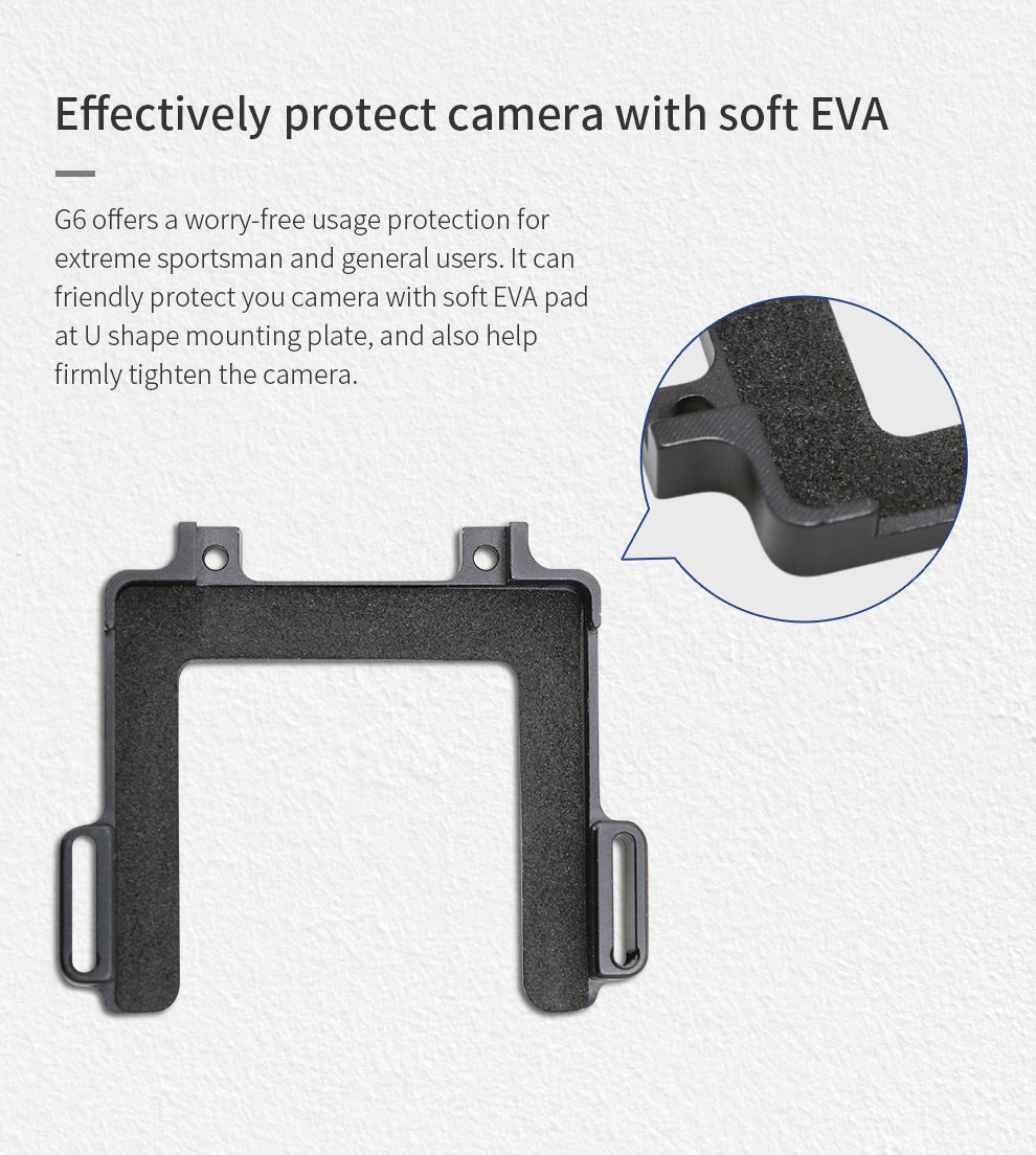 Feiyu G6 Gopro Hero 8 Action Camera Mount Overview