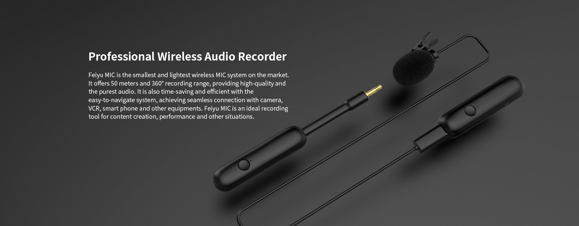FeiyuTech Wireless Audio Recorder Overview