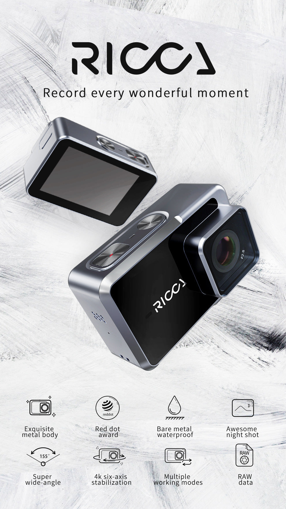 Feiyu Ricca Sports Action Camera Overview