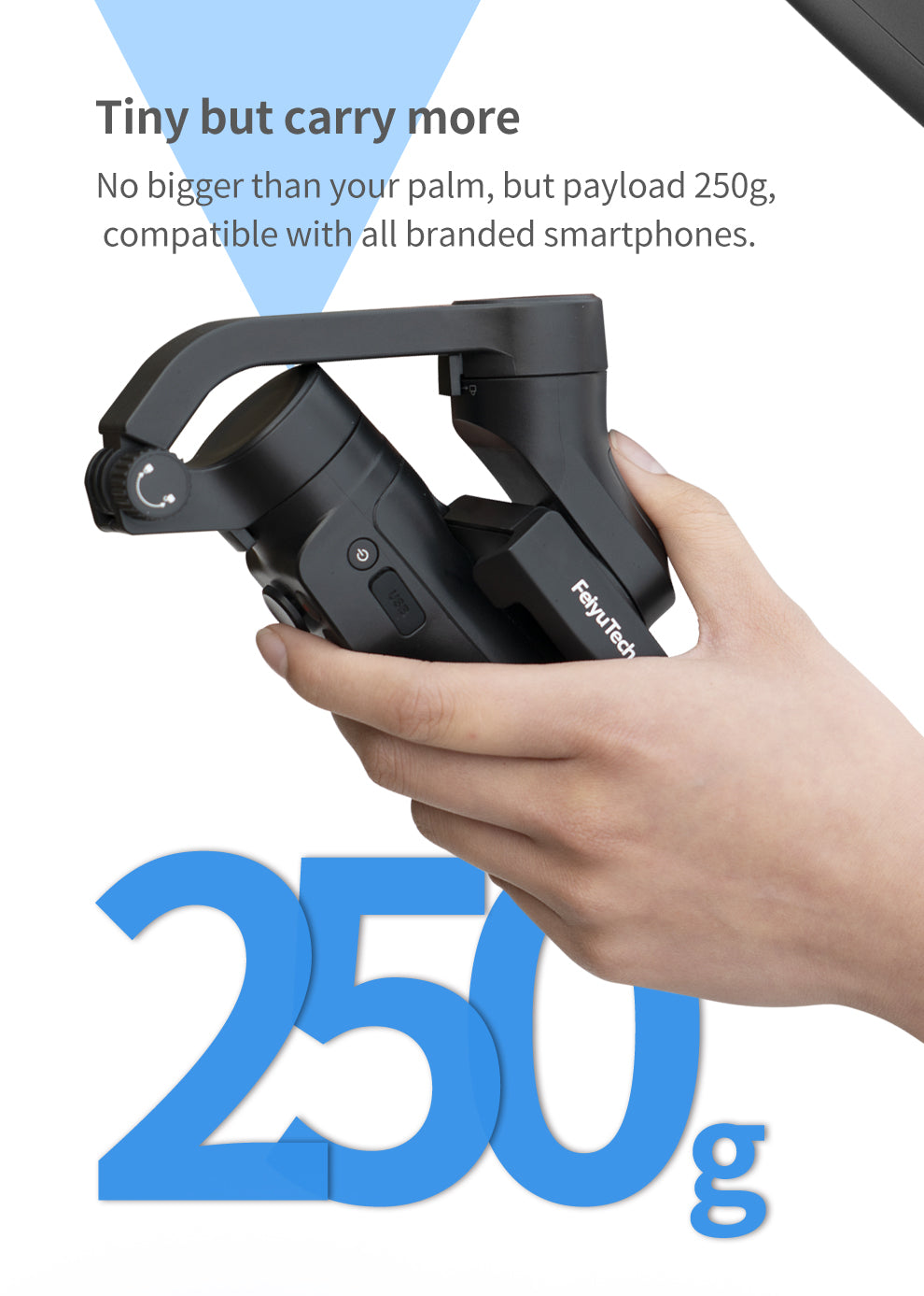 FeiyuTech VLOG Pocket 2 3 Axis Foldable Smartphone Gimbal Stabilizer Overview