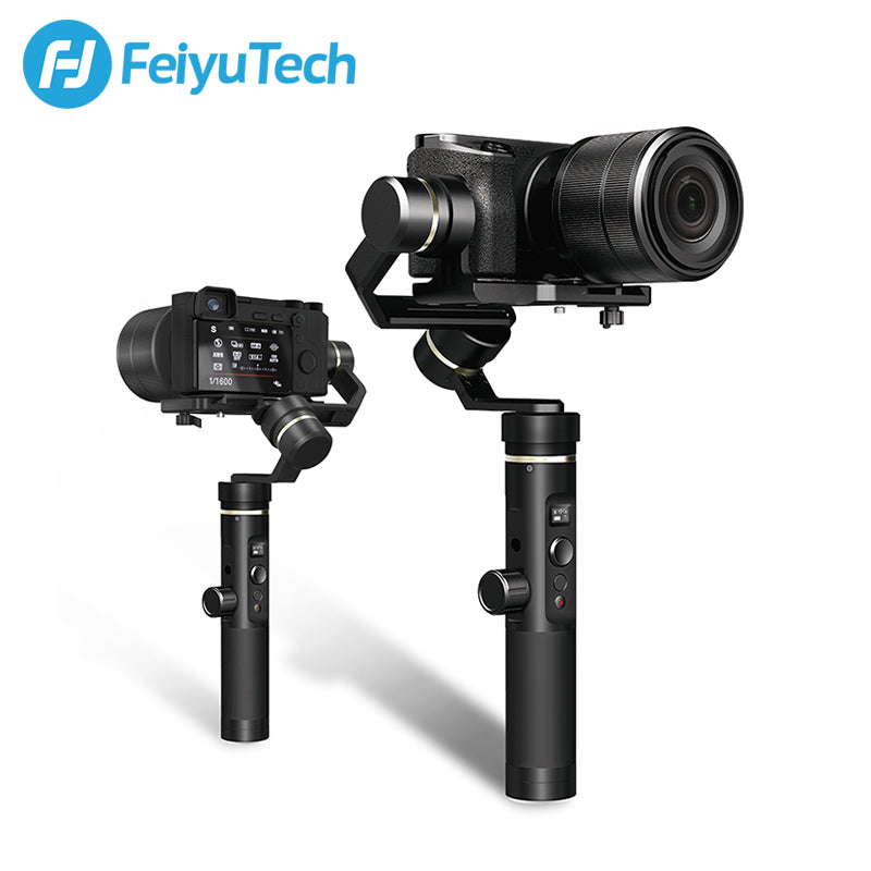 FeiyuTech G6 Plus Brushless 3 Axis Wi-Fi Control Gimbal for Mirrorless Camera Pocket Camera GoPro Hero 8/7/6/5 Action Camera Smartphone