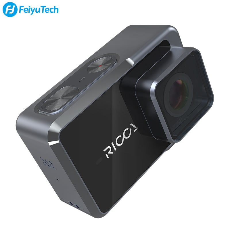 "FeiyuTech Ricca Waterproof H.264 H.265 Video 4K Sports Action Camera with 2.35"" Touch Screen"