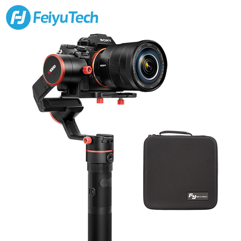 FeiyuTech a1000 3-Axis Gimbal for DSLR/Mirrorless Camera with Portable Bag  1 7kg Payload