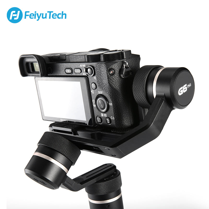 FeiyuTech G6 Plus 3-Axis Handheld Gimbal Stabilizer for Mirrorless Camera, Pocket Camera, GoPro, Smartphone,Payload 800g