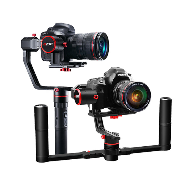 FeiyuTech a2000 3-Axis Gimbal for Mirrorless, DSLR Cameras with Portable Bag 2500g Payload