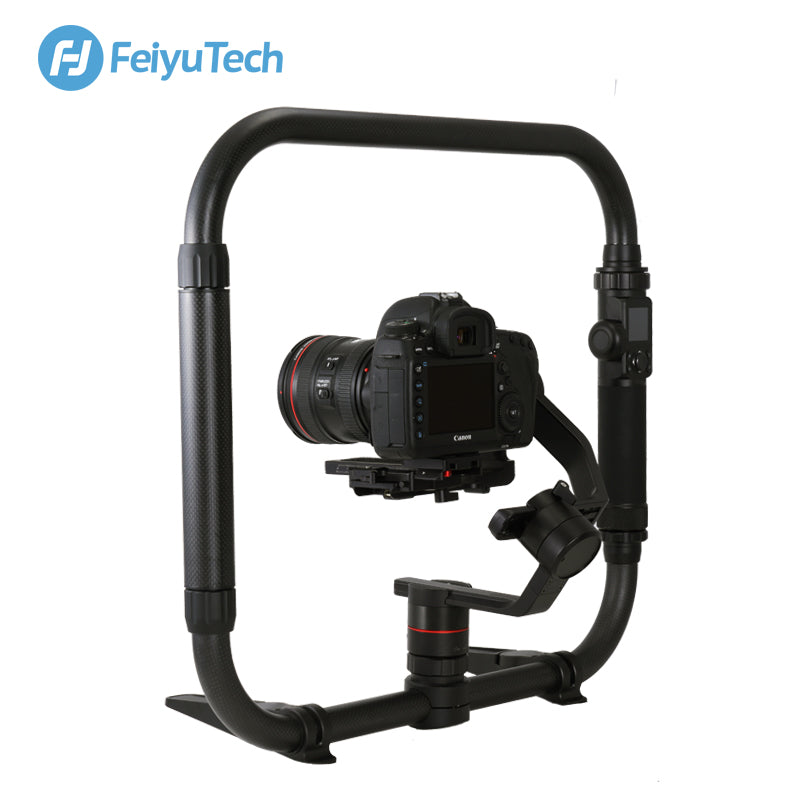FeiyuTech Carbon Fiber Dual Handle Grip Video Rig Stabilizer Cage Kit for Feiyutech Feiyu AK2000 AK4000 AK4500 Gimbal
