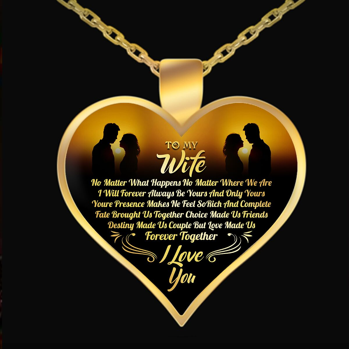Necklace - TO MY WIFE I LOVE YOU