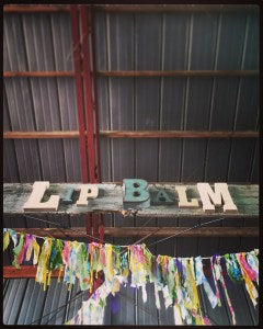 Serious Lip Balm booth sign