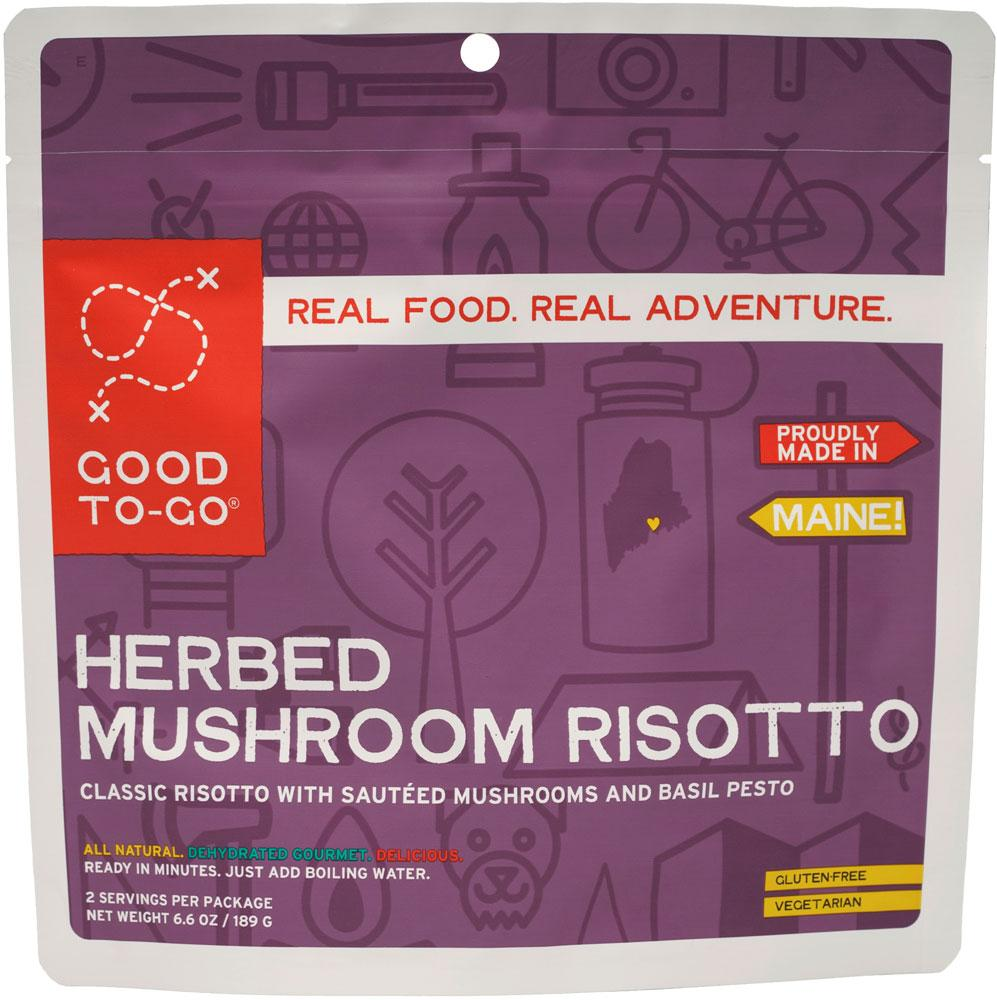 Good To Go Herbed Mushroom Risotto Dehydrated Meal- 1 or 2 Serving Size