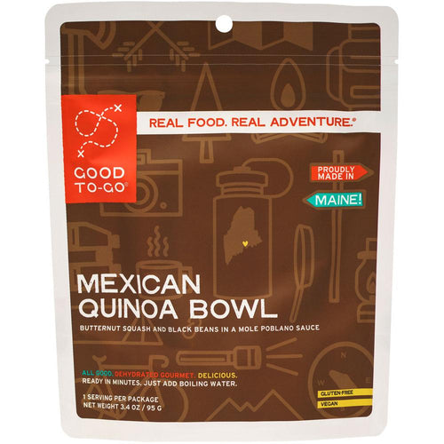 Good To Go Mexican Inspired Quinoa Bowl Dehydrated Meal- 1 or 2 Serving Size
