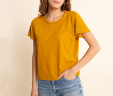 Jungmaven Cropped Ojai Tee Shirt- Multiple Colors