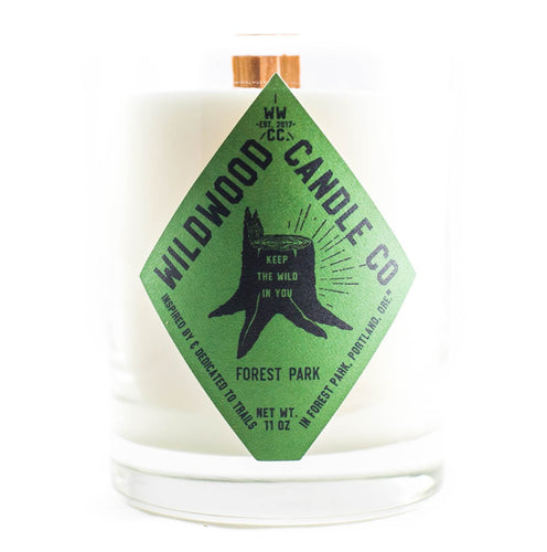 Wildwood Candle Co. Forest Park Scent- mint, oakmoss, amber