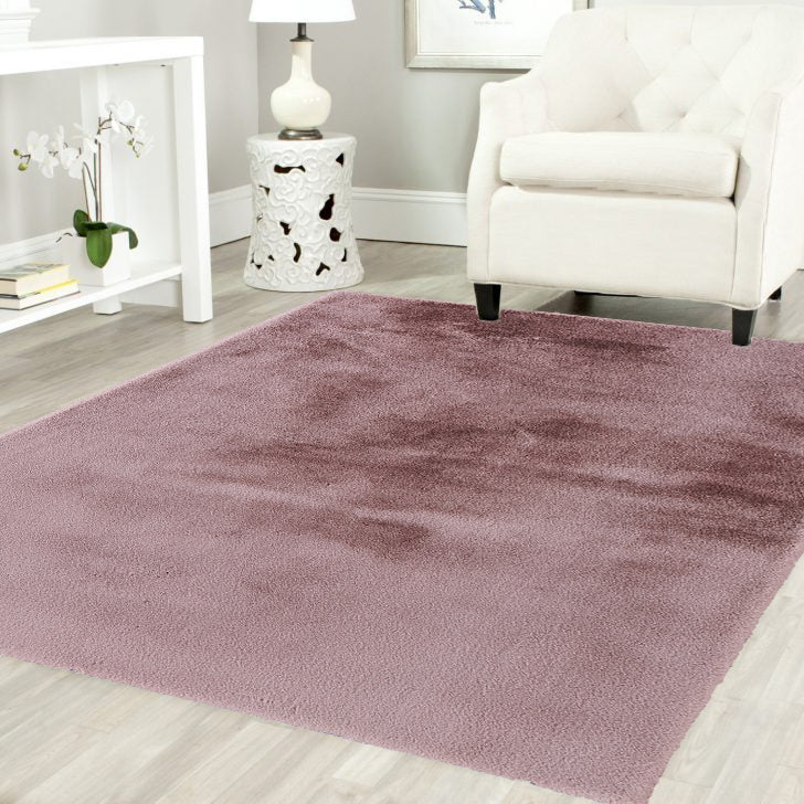 Blush Pony Ultra Soft Faux Fur Luxurious Modern Rug Floor Mat