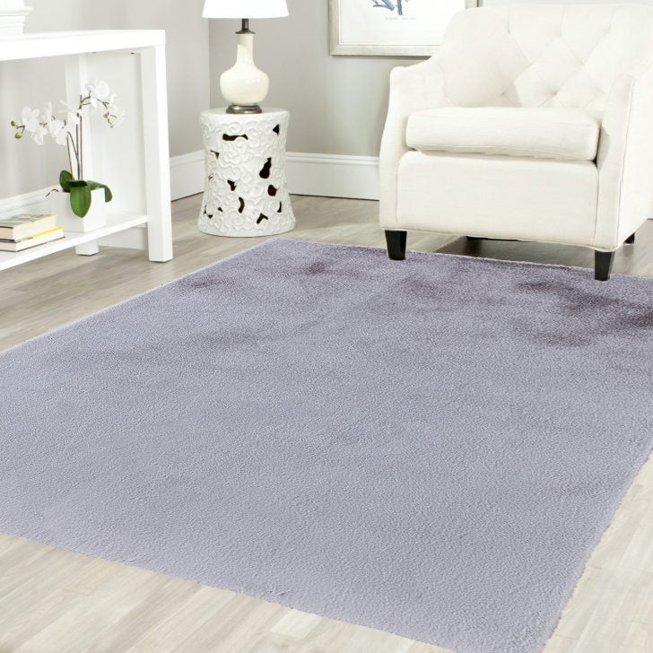 Gris Pony Ultra Soft Faux Fur Luxurious Modern Rug Floor Mat