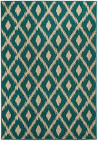 Alfresco-Avoca Trible Turquoise Outdoor Rug-RUG HOME
