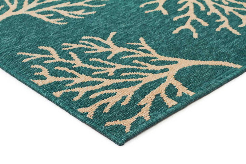 Alfresco-Coral Reef Turquoise Outdoor Rug-RUG HOME