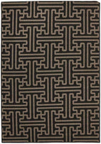 Alfresco-Seville Geo Charcoal Oudoor Rug-RUG HOME