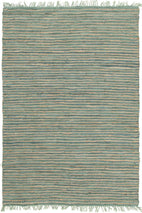 Atrium-Bondi Leather and Jute Rug Aqua-RUG HOME